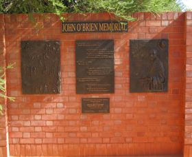John OBrien Commemorative Wall - Accommodation Cooktown
