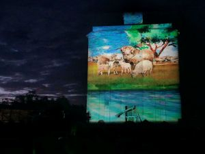 Quorn Silo Light Show - Accommodation Cooktown