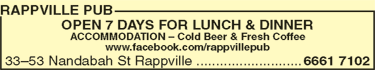 Rappville Pub - Accommodation Cooktown